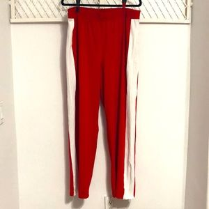 ASOS Lightweight Track Pants Red White